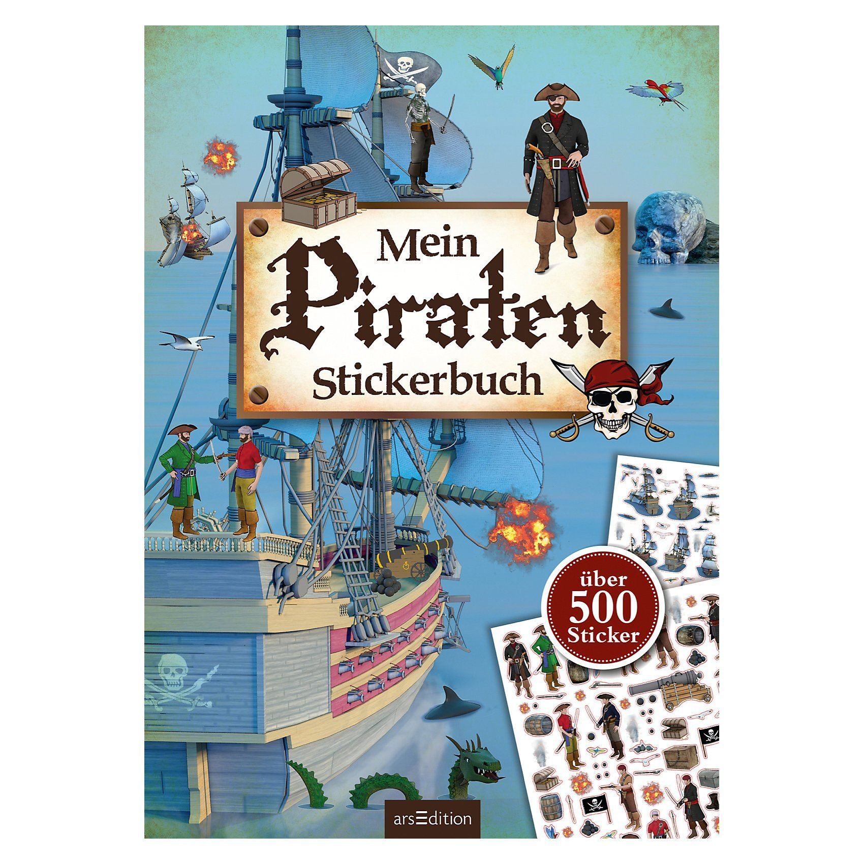 arsEdition Verlag Mein Piraten-Stickerbuch