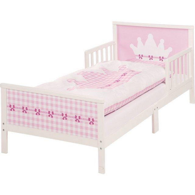 Kinderbetten - Roba® Kinderbett KRONE. 70 x 140 cm, weiß » rosa  - Onlineshop OTTO