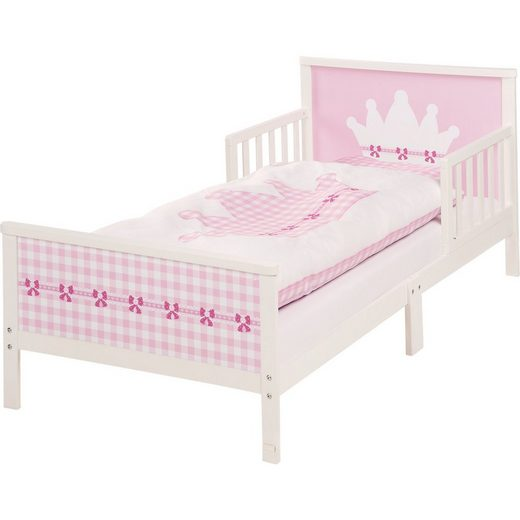 Roba® Kinderbett KRONE. 70 x 140 cm, weiß