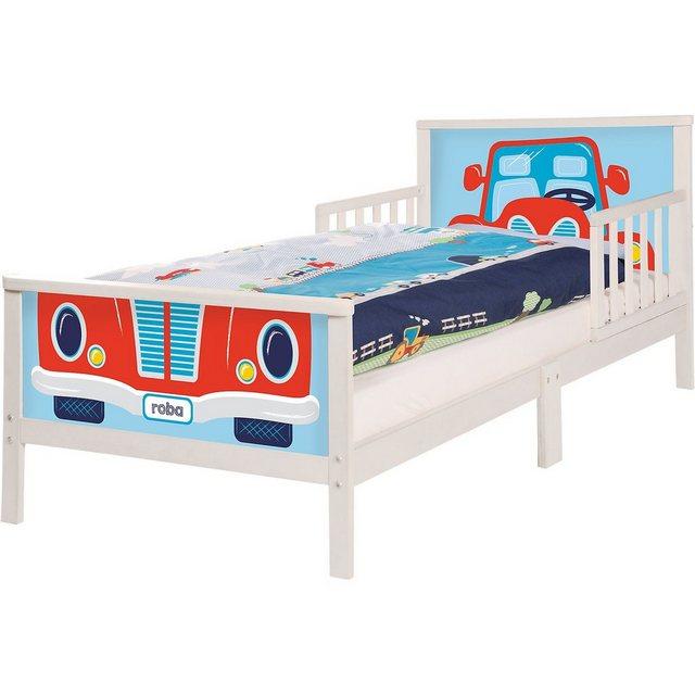 Kinderbetten - Roba® Kinderbett RENNFAHRER. 70 x 140 cm, weiß » weiß  - Onlineshop OTTO