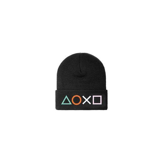 Playstation Mütze mit Controller Buttons, schwarz
