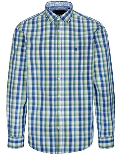 BASEFIELD Langarmhemd mit Logo-Stitching