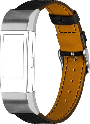 topp Accessoires Ersatz-/Wechselarmband »Leder mit Ziernaht für Fitbit Charge 2«