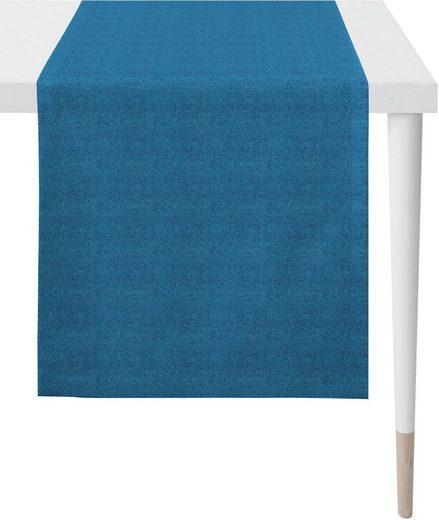 APELT Tischläufer »4388 Uni-Basic« (1-tlg), Panamagewebe
