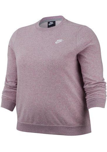 Nike Sportswear Sweatshirt »WOMEN NIKE SPORTSWEAR CLUB CREW FLEECE PLUS SIZE« Große Größen