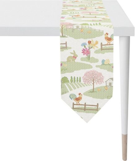 APELT Tischband »1551 Happy Easter« (1-tlg), Gobelingewebe