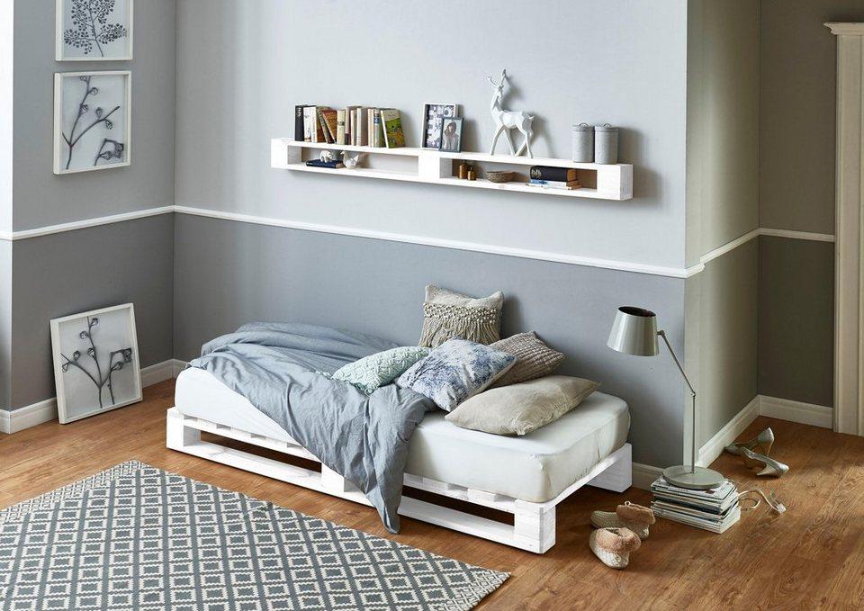 Atlantic Home Collection Palettenbett Aus Massiver Fichte Wahlweise