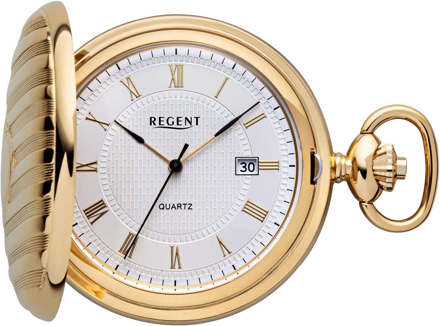 Regent Taschenuhr »P611« (Set, 2 tlg., inkl. Kette) | Uhren > Taschenuhren | Goldfarben | Regent
