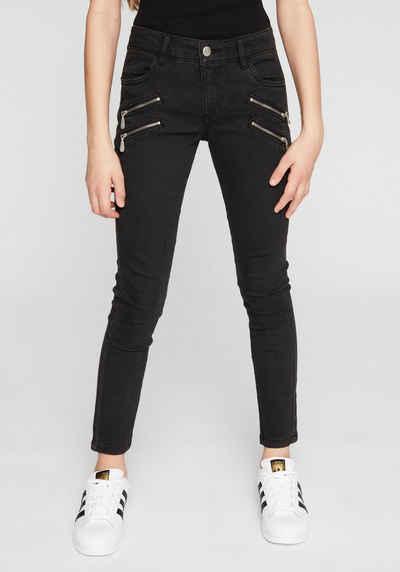 Mädchen Skinny Jeans, blue denim, 164 REG
