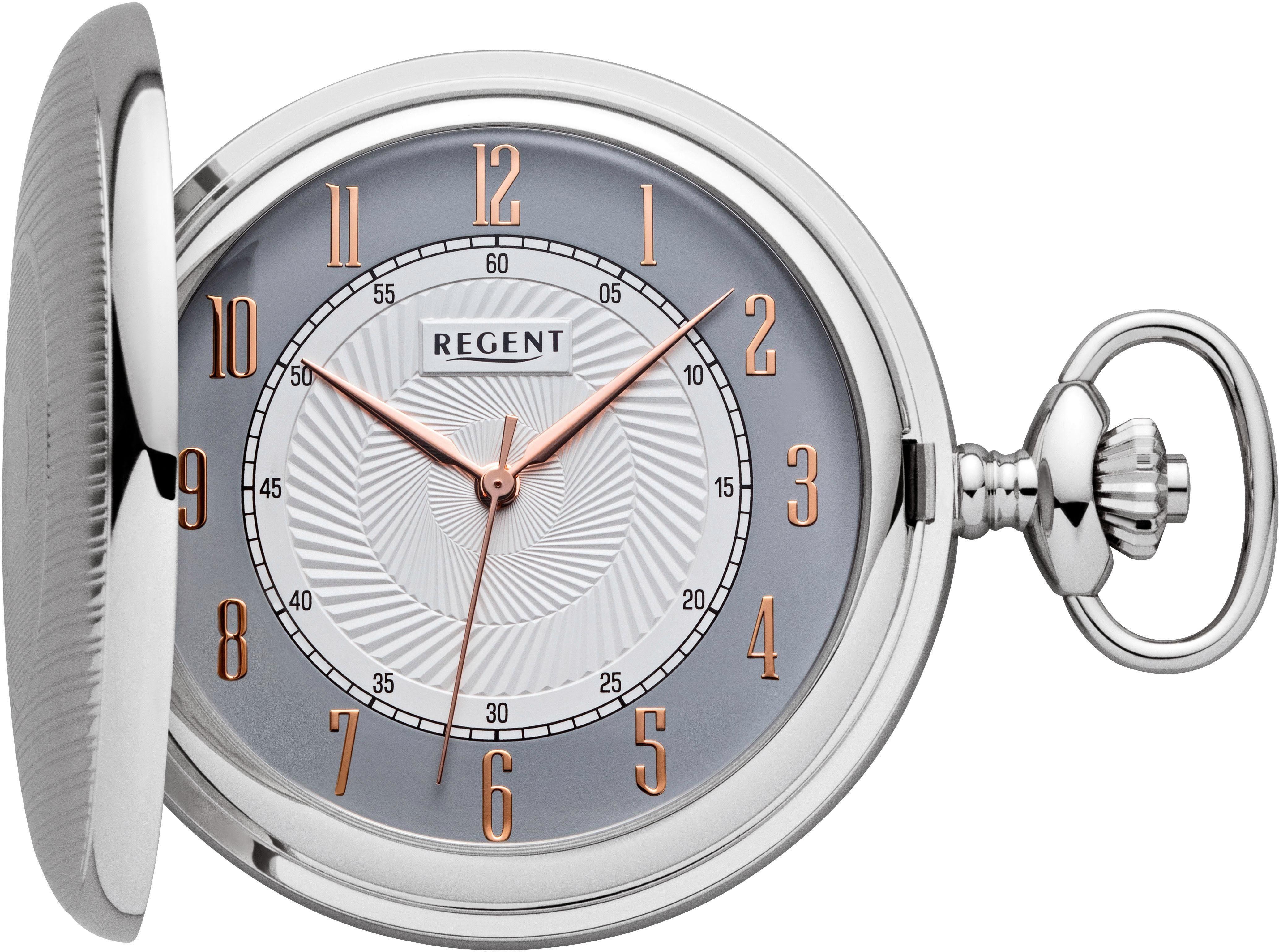 Regent Taschenuhr »P605« (Set, 2 tlg., inkl. Цепочка)