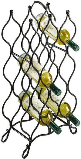 locker Weinflaschenhalter »Weinregal aus Metall«