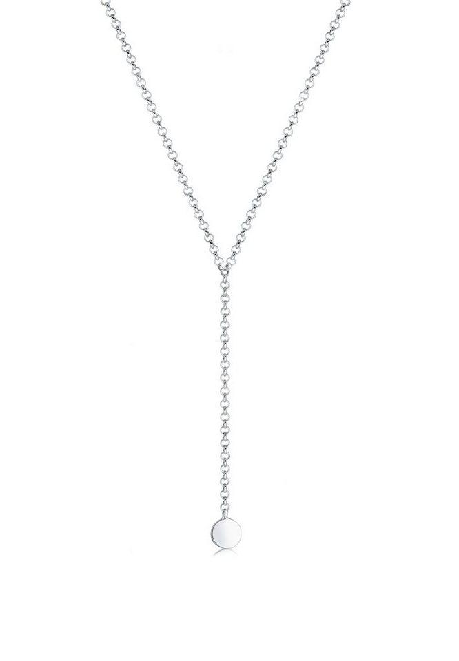 11ddb020e1f9 Elli Collierkettchen »Choker Y-Kette Plättchen Geo 925 Sterling Silber«