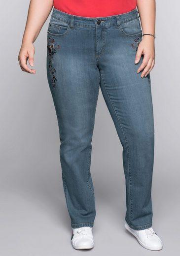 Joe Browns Stretch-Jeans mit Blumenstickerei