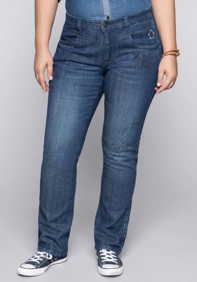 Damen sheego Denim  Gerade Jeans blau | 04061303462588