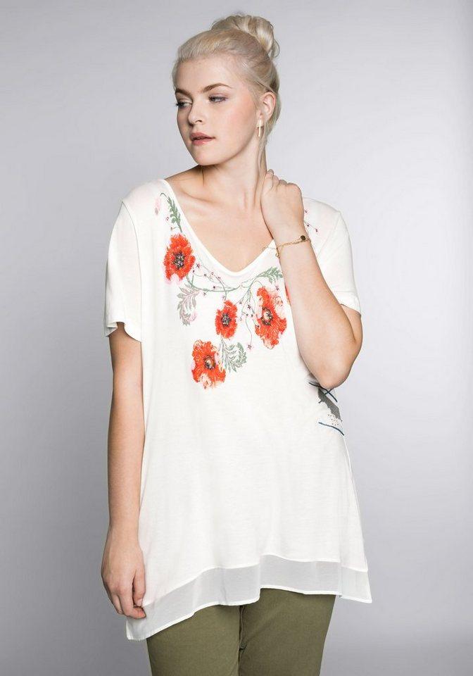 Joe Browns Zipfelshirt | Bekleidung > Shirts > Zipfelshirts | Weiß | Chiffon - Jersey | Joe Browns
