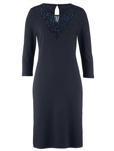 Alba Moda Kleid mit Netzeinsatz