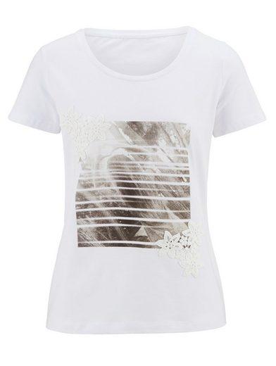 Alba Moda Shirt mit applizierter Spitze