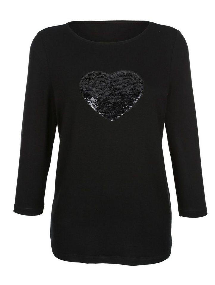 9d763a9693427b Laura Kent Shirt mit Wendepailletten online kaufen
