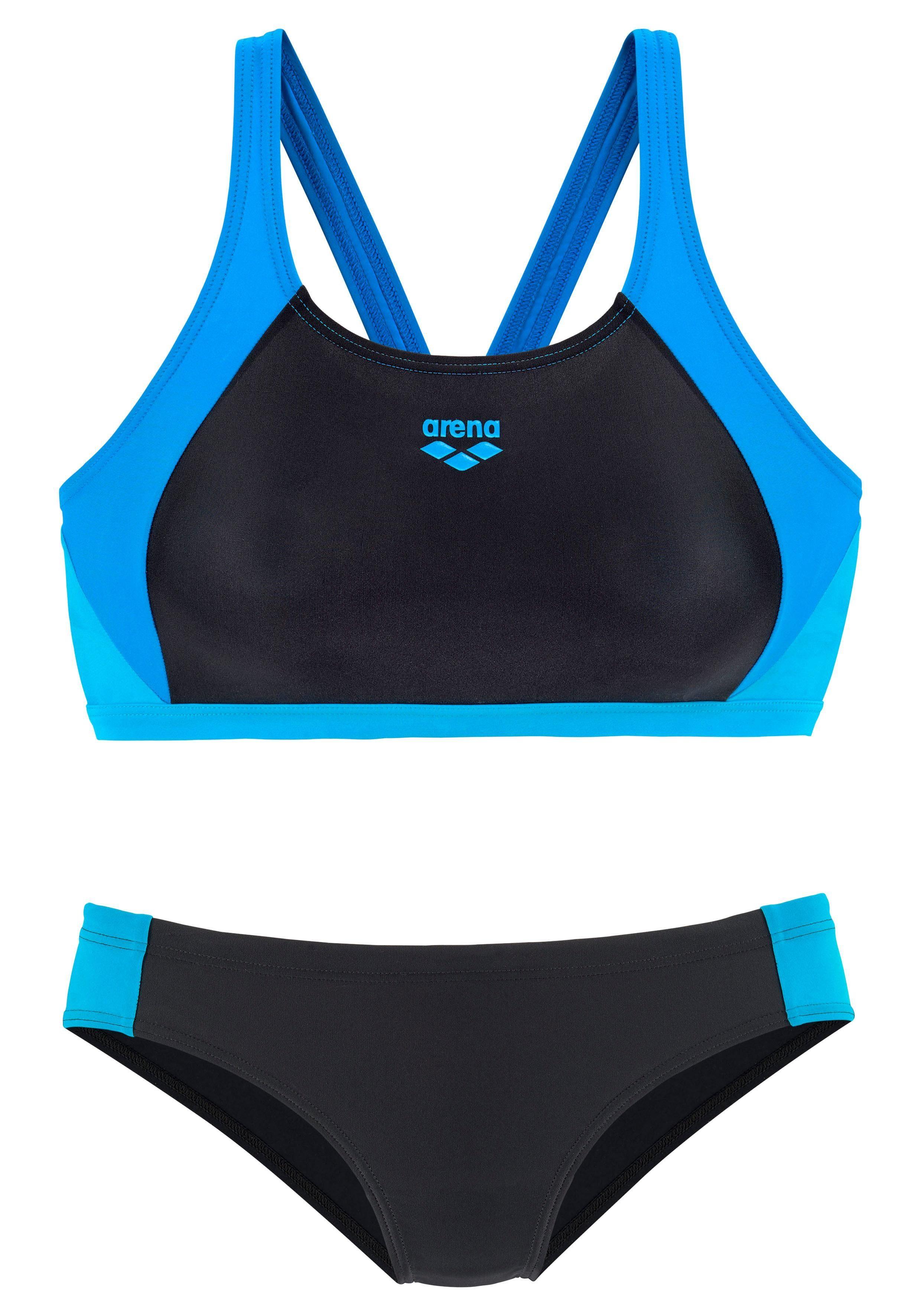 Arena Bustier-Bikini mit Ringerrücken