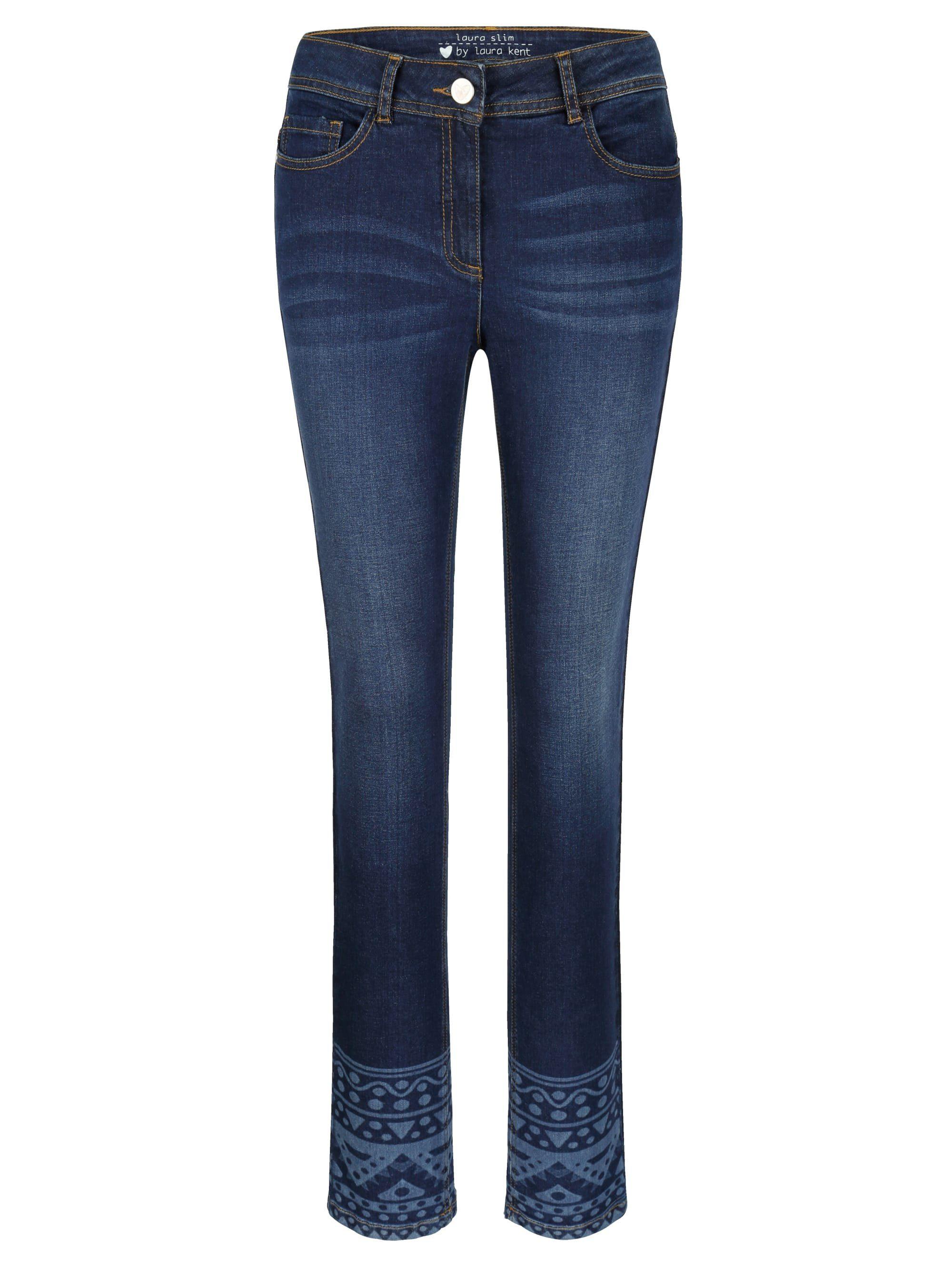 Laura Kent Jeans Laura Slim mit Laserdruck im Ethnodessin online kaufen | OTTO
