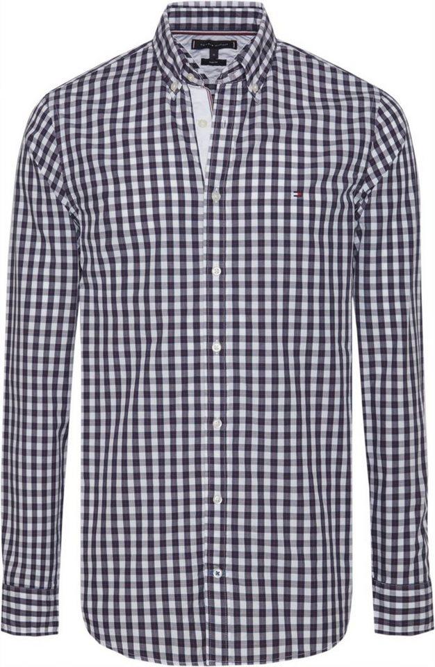 TOMMY HILFIGER Tommy Hilfiger Hemd »SLIM SMALL OPEN CHECK SHIRT«
