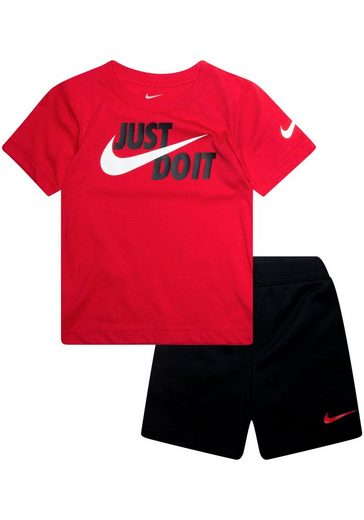 Nike Sportswear T-Shirt & Shorts »JUST DO IT SHORTSLEEVE TEE & SHORT SET JUNIOR« (Set, 2-tlg)