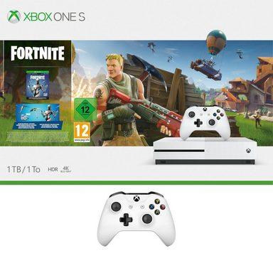 Xbox One S 1TB (Bundle, inkl. Fortnite Bundle (digitale Vollversion) + 2. Wireless Controller)