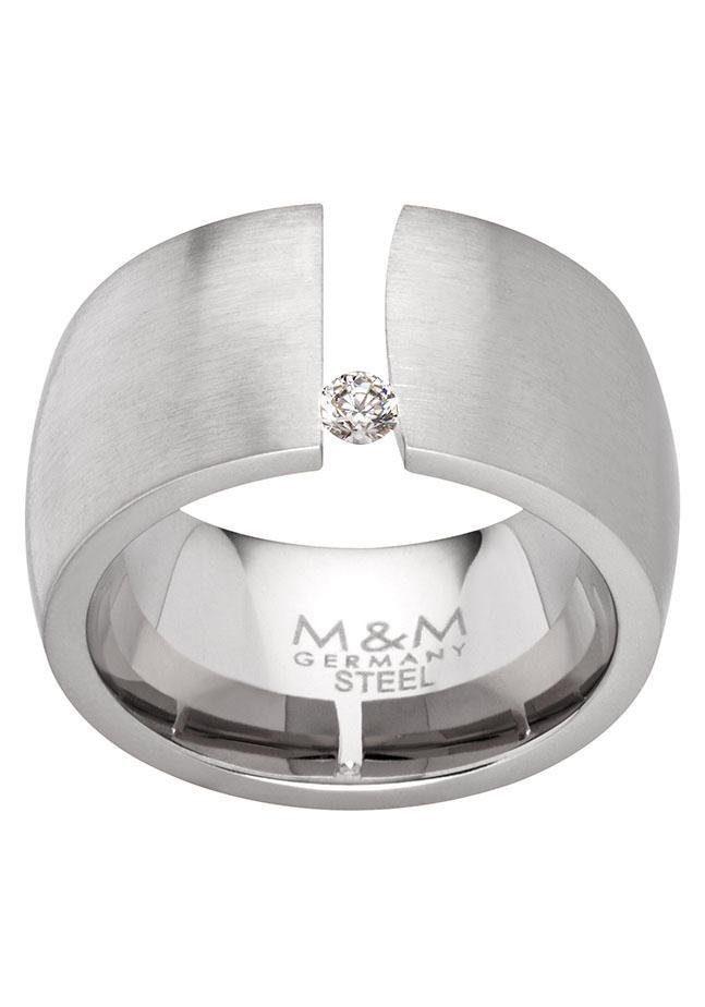 M&M GERMANY Fingerring »Modern Glam, MR3208-1« mit Zirkonia