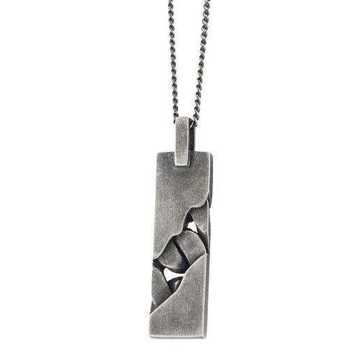 CAÏ Anhänger mit Kette »925/- Sterling Silber rhodiniert oxidiert«
