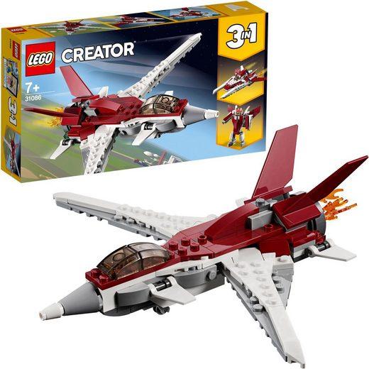 LEGO® Konstruktionsspielsteine »Flugzeug der Zukunft (31086), LEGO® Creator«, (157 St)