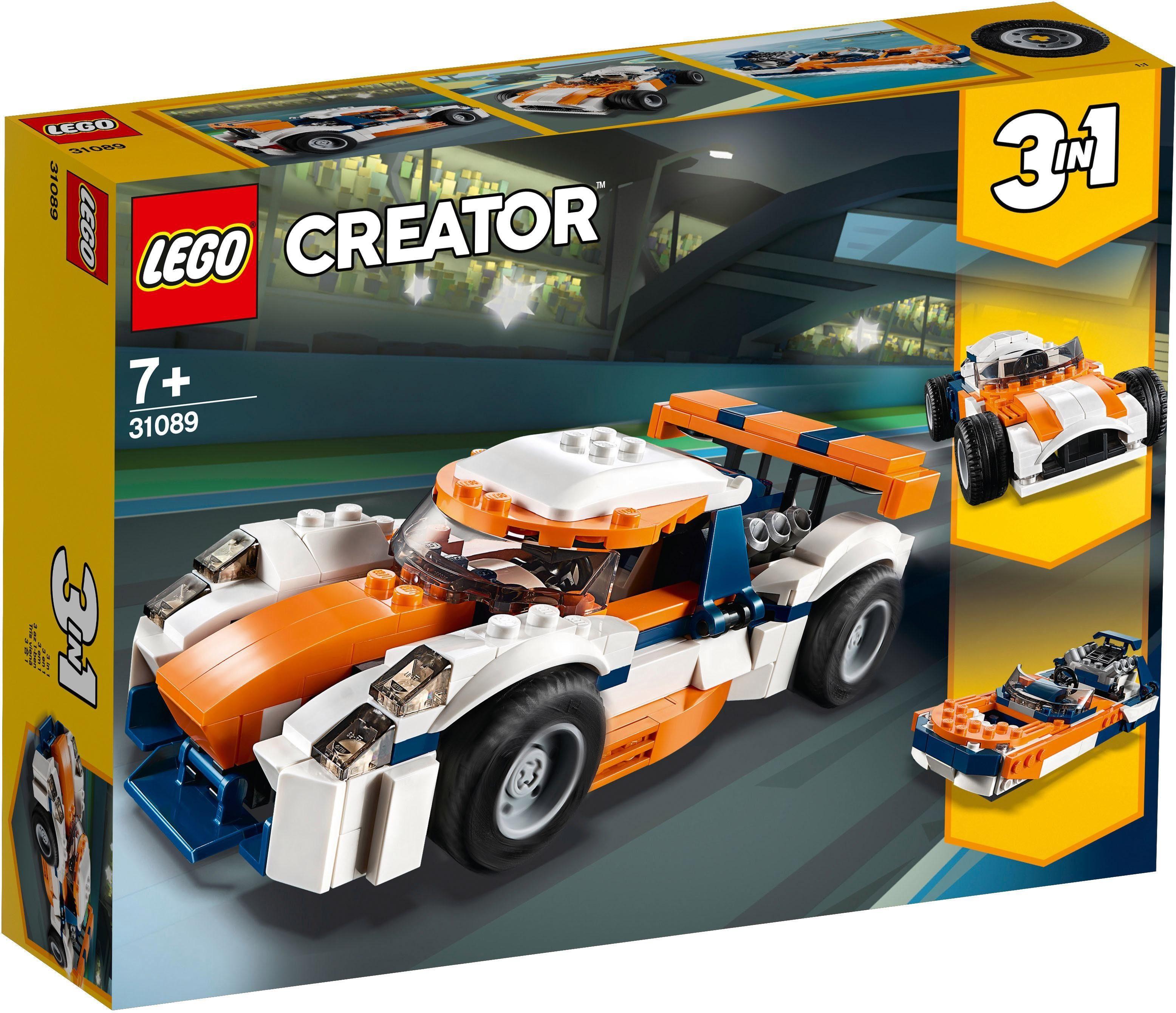 LEGO® Konstruktionsspielsteine »Rennwagen (31089), LEGO® Creator«, (221 tlg)