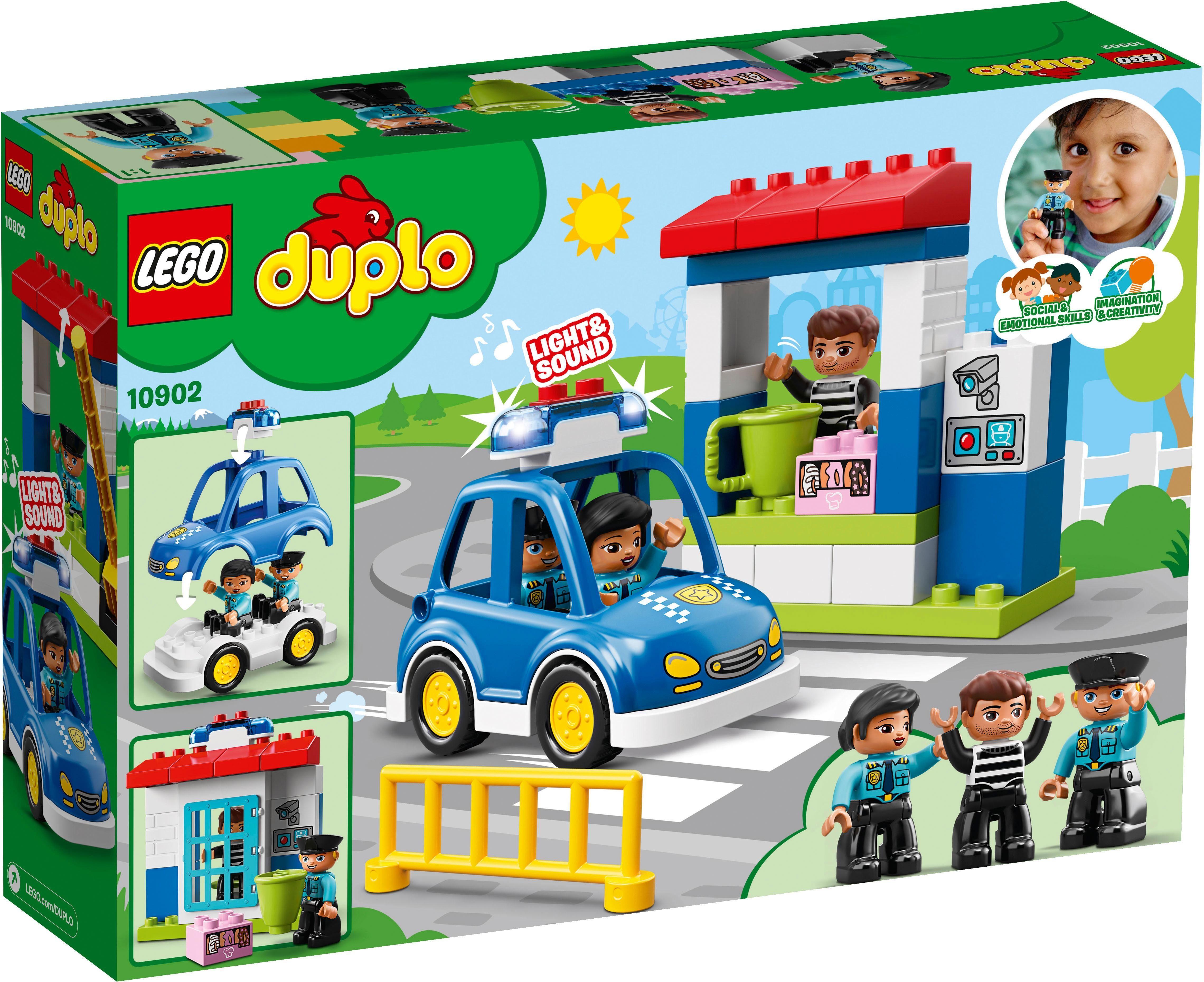LEGO® Konstruktionsspielsteine »Polizeistation (10902), LEGO® DUPLO™«, (38 St), mit Licht- und Geräuscheffekten