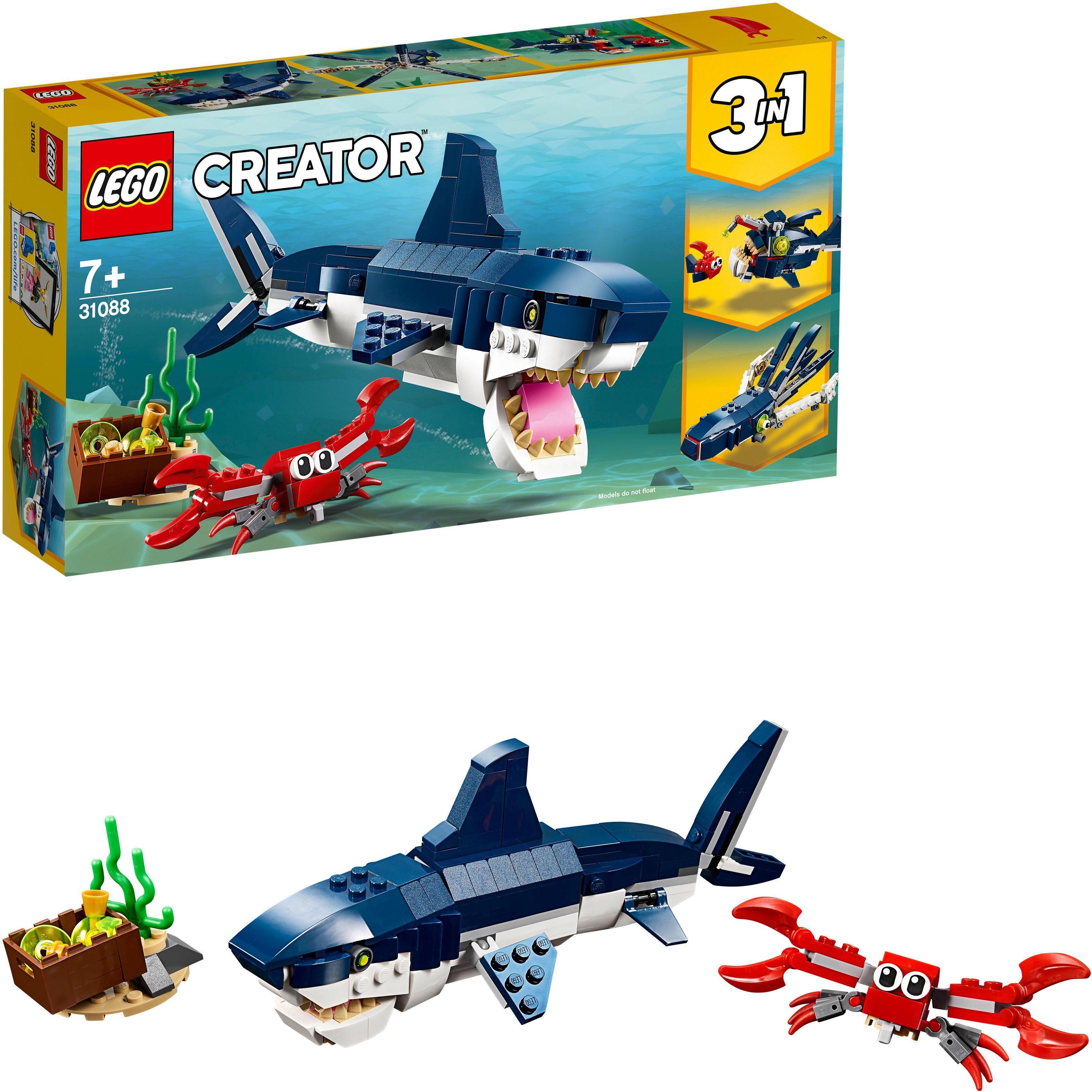 LEGO® Konstruktionsspielsteine »Bewohner der Tiefsee (31088), LEGO® Creator«, (230 tlg)