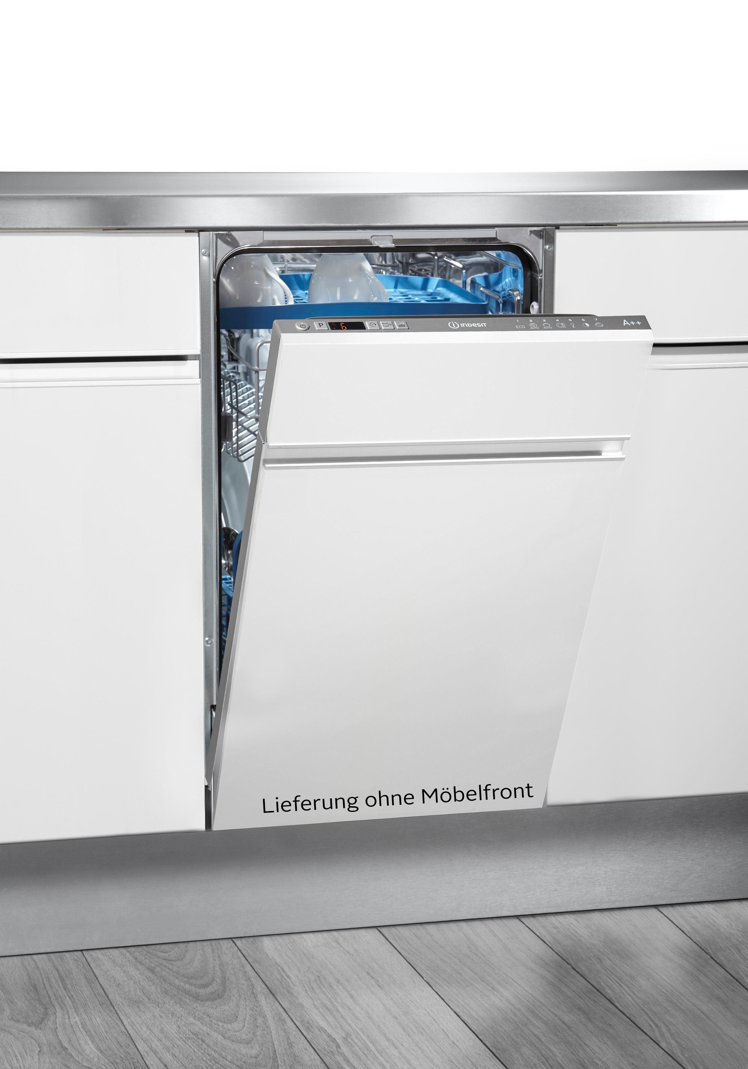 Indesit vollintegrierbarer Geschirrspüler, DISR 57M94 CA EU, 9 l, 10 Maßgedecke, 45 cm breit