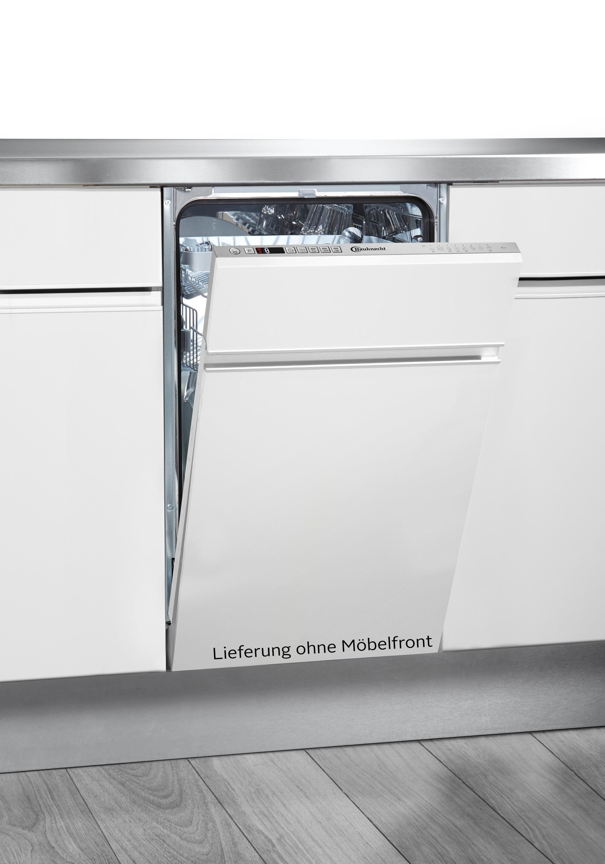 BAUKNECHT vollintegrierbarer Geschirrspüler, GCX 825, 9 l, 10 Maßgedecke, 45 cm breit