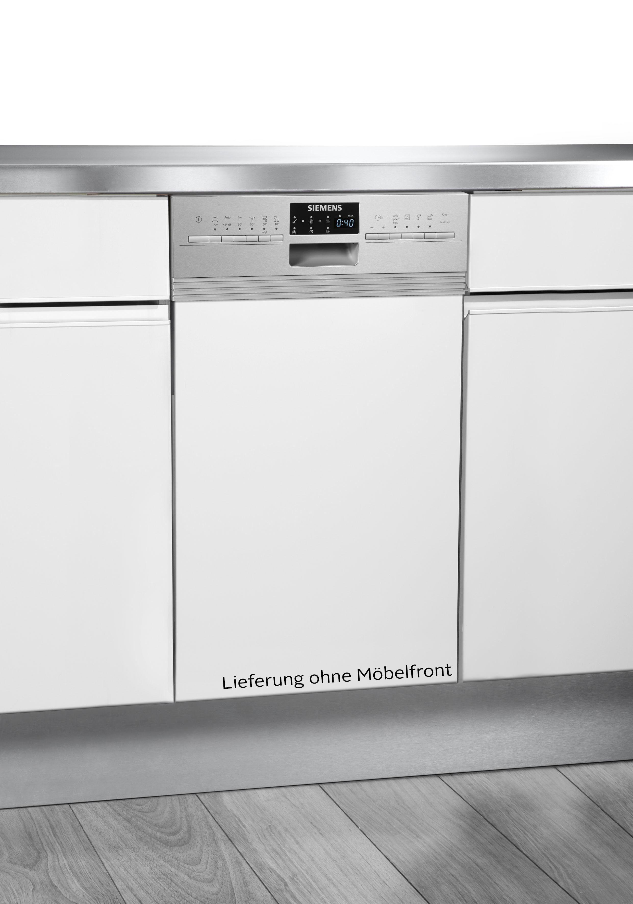 SIEMENS teilintegrierbarer Geschirrspüler, SR556S01TE, 9,5 l, 10 Maßgedecke, 45 cm breit