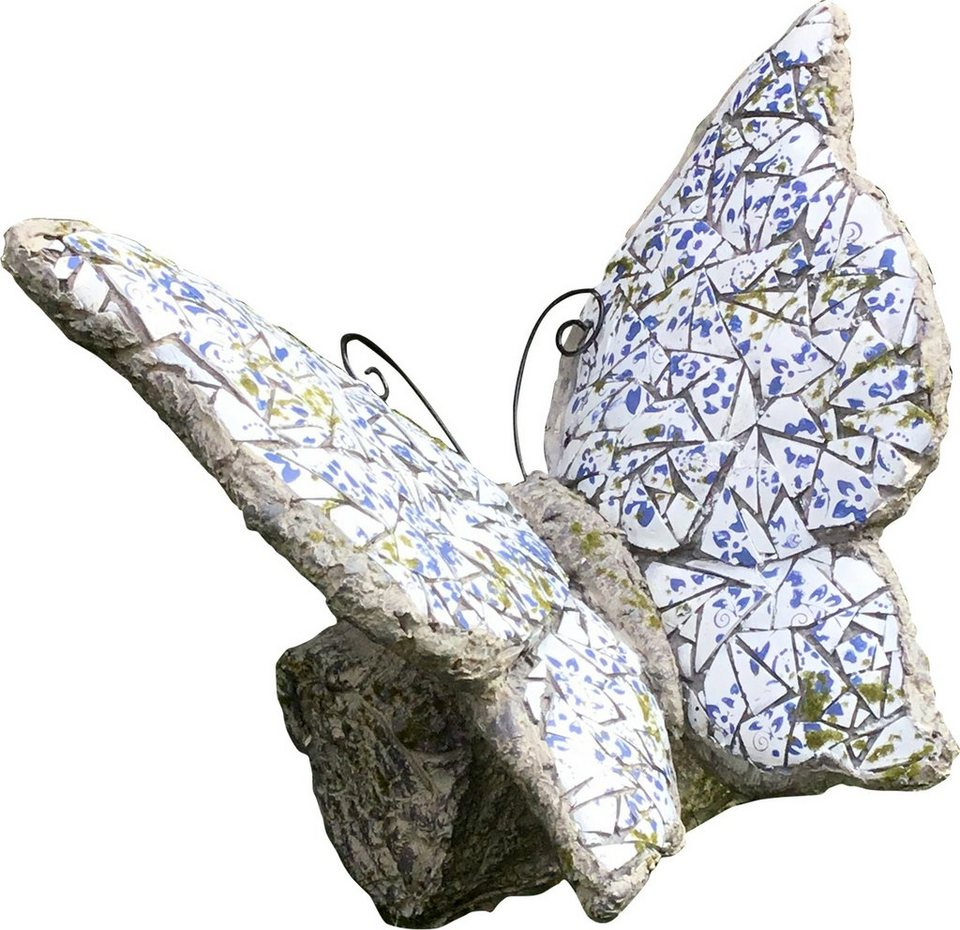 Hti line gartendeko mosaik schmetterling kaufen otto for Stilvolle gartendeko