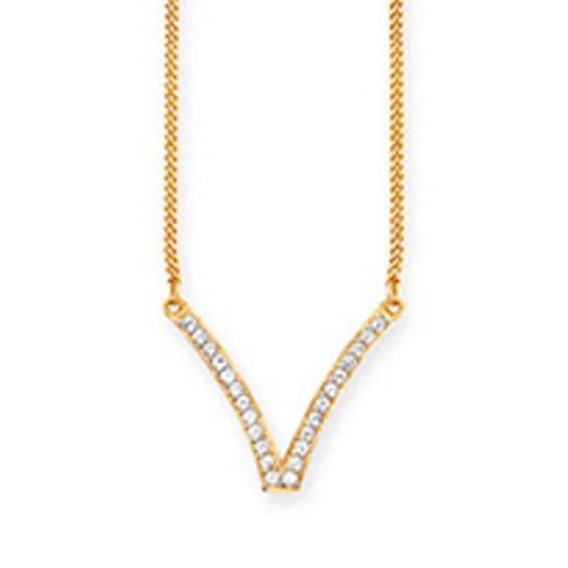 CAÏ Collier »925/- Sterling Silber vergoldet Topas«