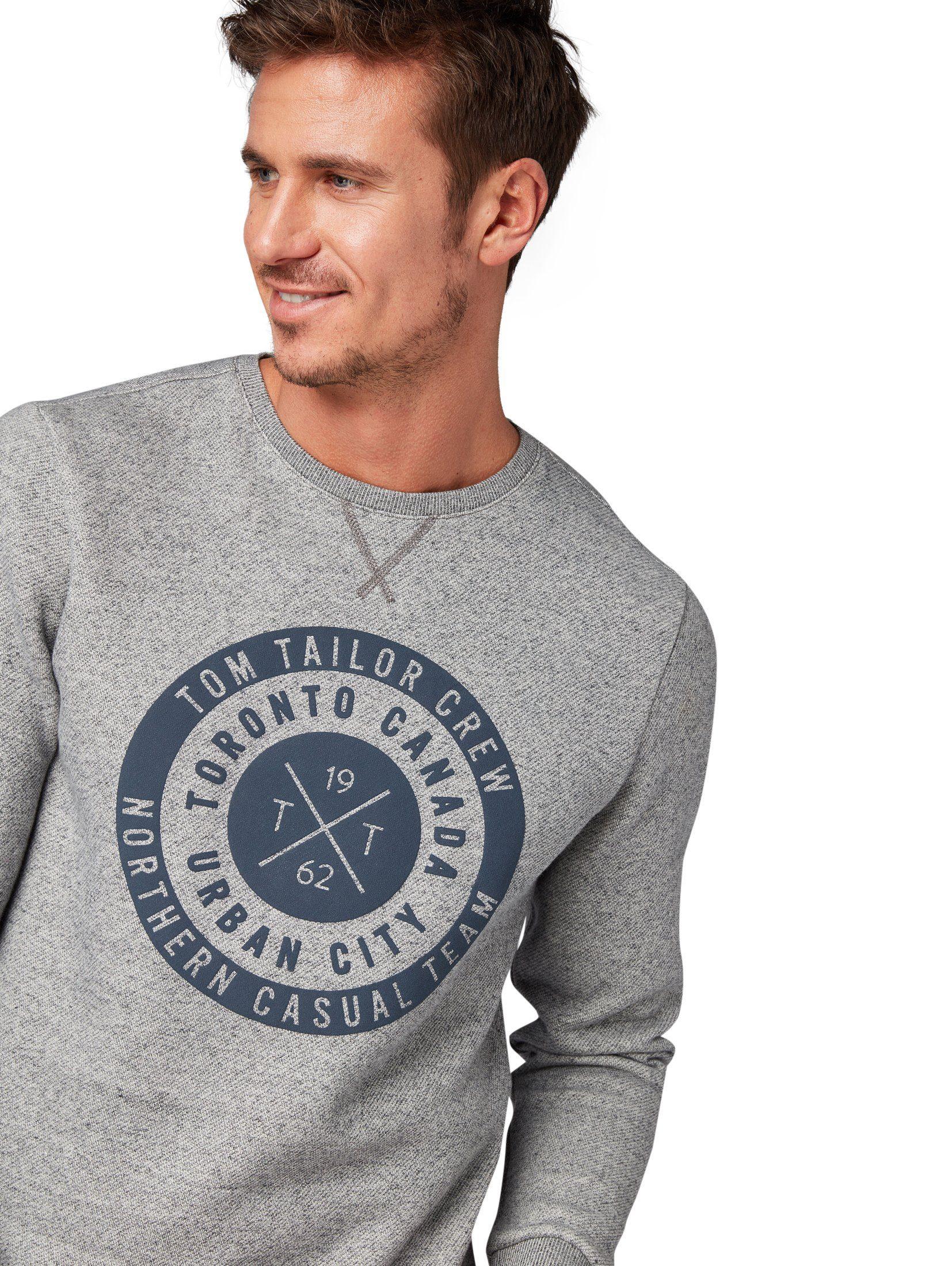 Tom Pullover Sweatshirt Online Tailor Mit Kaufen Brust print« »strukturierter lJ3K1uTFc