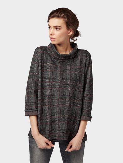 TOM TAILOR Sweatshirt »Langarmshirt mit Turtle-Neck«