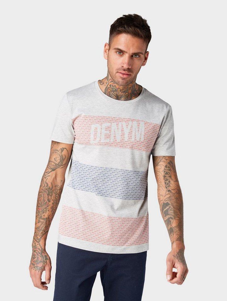Herren TOM TAILOR Denim  T-Shirt T-Shirt mit breiten Streifen weiß | 04061945230910