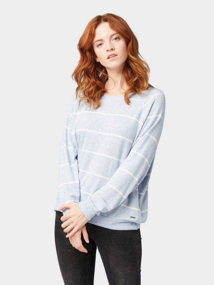 tom tailor denim -  Sweatshirt »Pullover mit Fledermausärmeln«