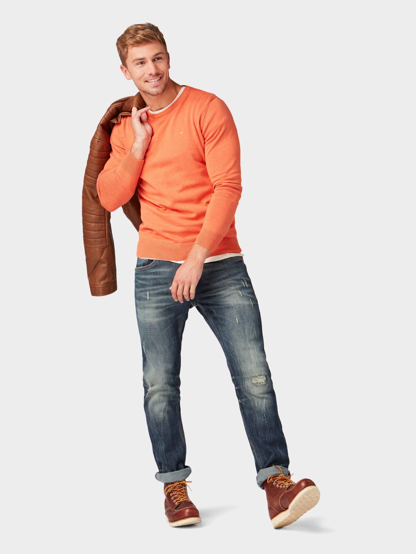 Tom Pullover« Strickpullover »melierter Tom Tailor Tailor »melierter Strickpullover Strickpullover Pullover« Tailor Tom KJcTlF1