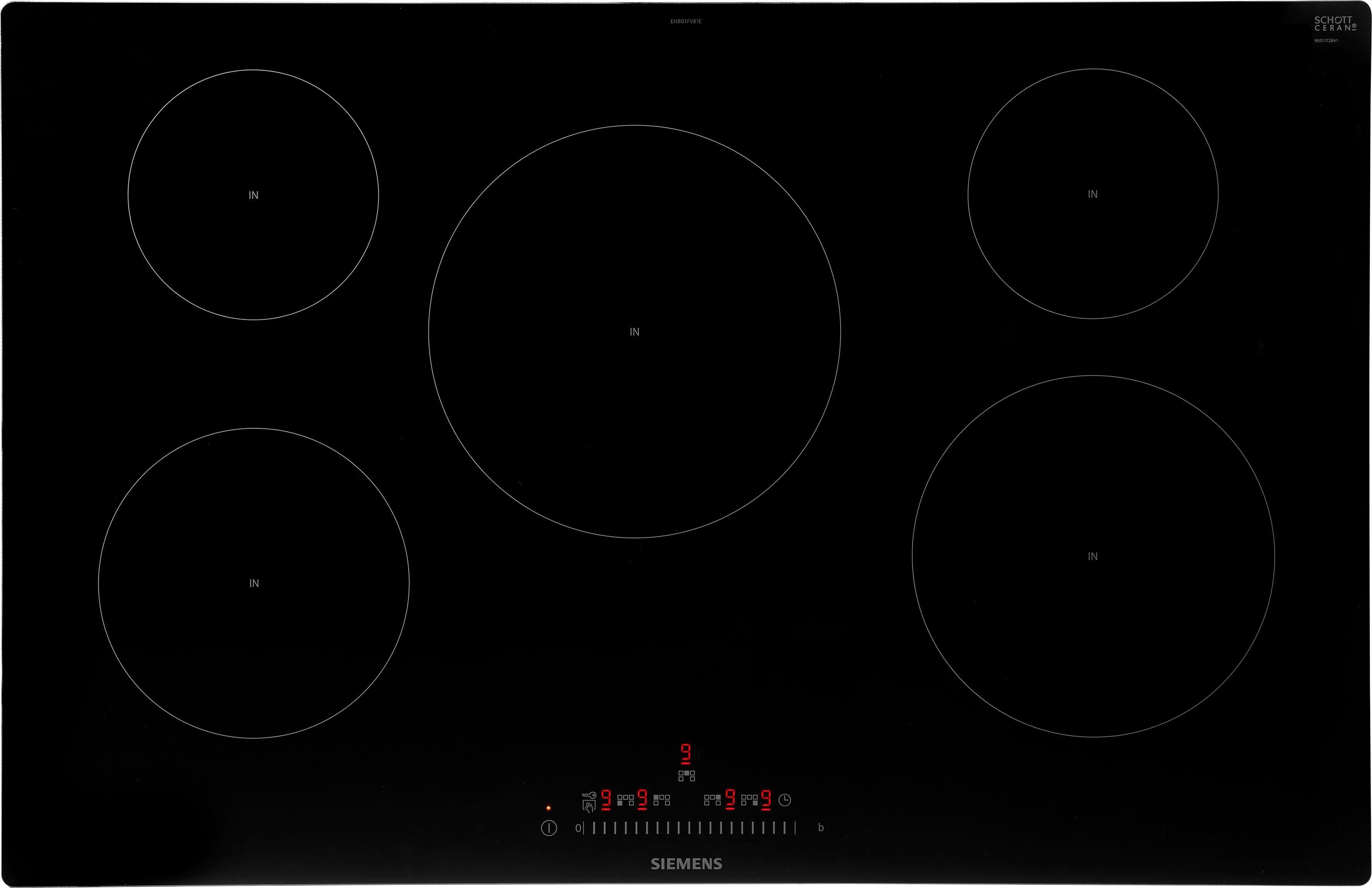 SIEMENS Induktions-Kochfeld von SCHOTT CERAN® EH801FVB1E EH801FVB1E