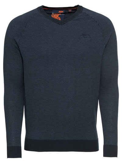 6db568157b85 Superdry V-Ausschnitt-Pullover »ORANGE LABEL COTTON VEE«