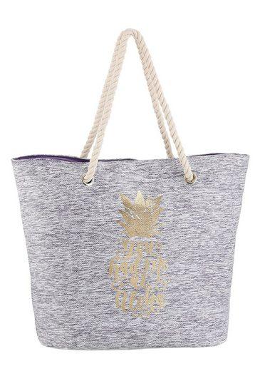 fabrizio® Strandtasche, mit modischem Print auf der Vorderseite