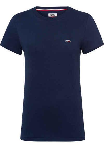 TOMMY JEANS T-Shirt mit kleinem Markenaufnäher 909a18ed33