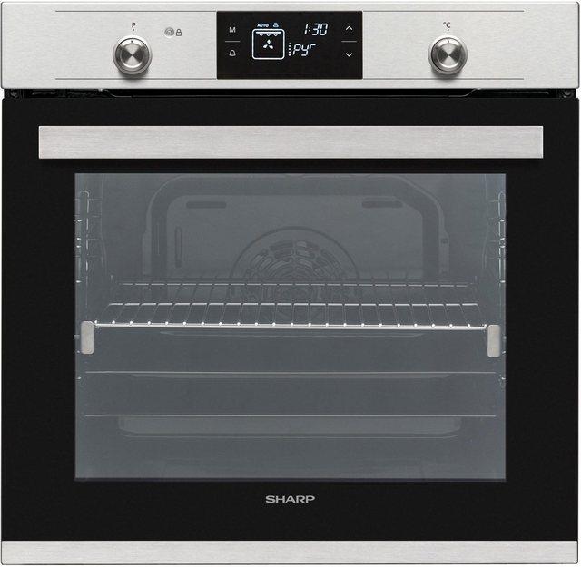 Küchengroßgeräte - Sharp Backofen Set Pyro Gigaset Ind Edelstahl, mit 1 fach Teleskopauszug, Pyrolyse Selbstreinigung  - Onlineshop OTTO