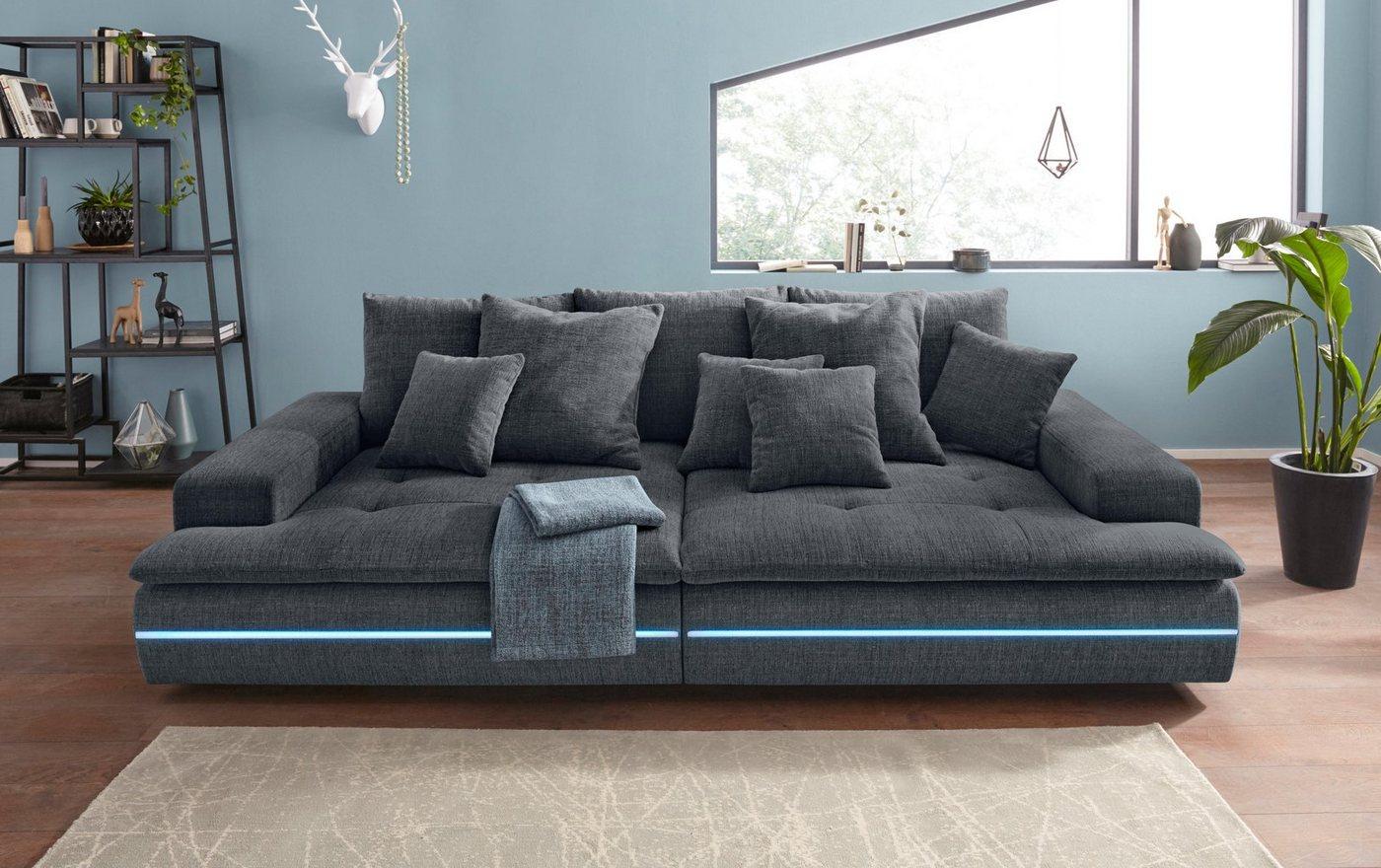 Nova Via Big-Sofa | Wohnzimmer > Sofas & Couches > Bigsofas | Grau | Nova Via