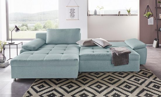 sit&more Ecksofa, XL oder XXL, wahlweise mit Bettfunktion, Bettkasten und Federkern